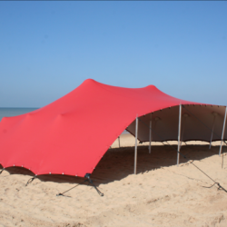 red stretch tents for sale