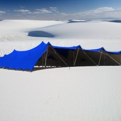 blue stretch tents